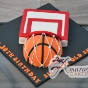 Basketball and Hoop Cake - Amarantos Designer Cakes Melbourne