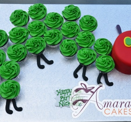 Hungry Caterpillar Cupcake Cake - Amarantos Birthday Cakes Melbourne