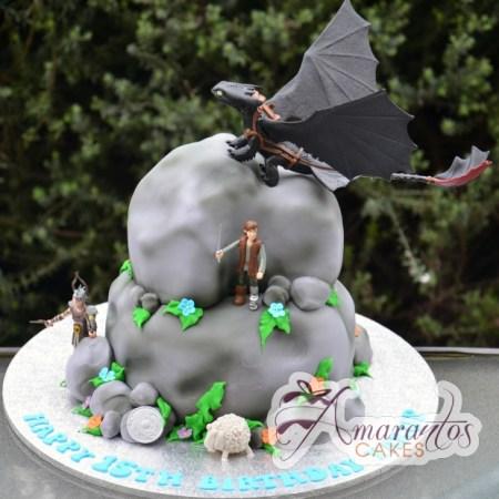 How to train your dragon - Amarantos Designer Cakes Melbourne