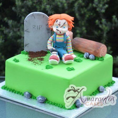 Grave site with Chucky Cake – NC584