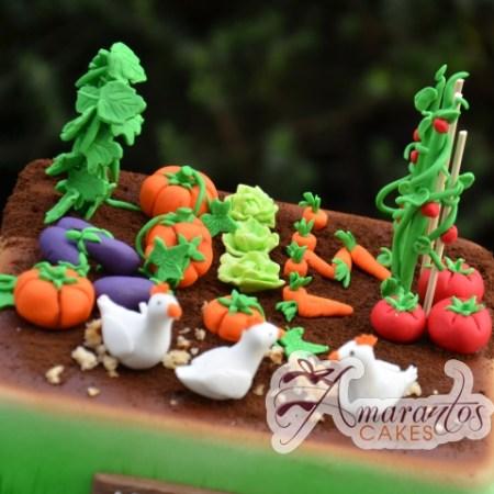 Vegetable Garden Cake - Amarantos Custom Made Cakes Melbourne
