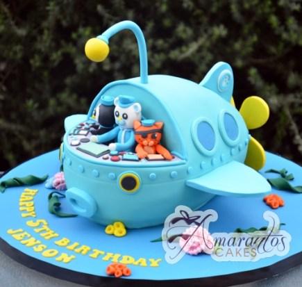 3D Octonauts Ship Cake - Amarantos Designer Cakes Melbourne