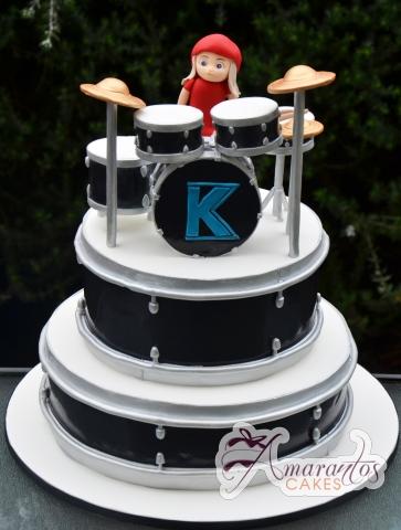 Two Tier Drums Cake - Amarantos Custom Made Cakes Melbourne