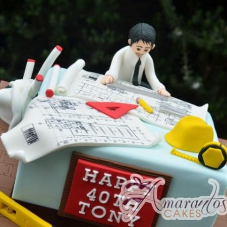 Architects Cake - Amarantos Cakes Melbourne