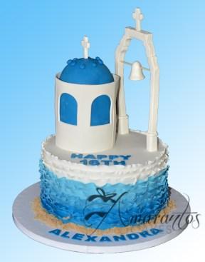 Santorini themed cake - NC621 - Celebration Cakes Melbourne