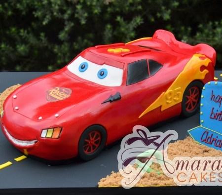 3D Lightning McQueen Cake - NC624 - Amarantos Novelty Cakes Melbourne