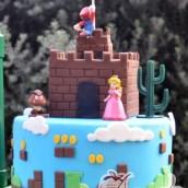 Five Tier Super Mario Cake - Amarantos Cakes Melbourne