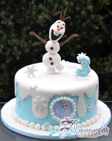 Base cake with Olaf - NC626 - Amarantos 1st Birthday Cakes Melbourne