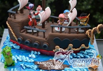 3D Pirate Ship with Jake the Pirate Cake - Amarantos Custom Made Cakes Melbourne