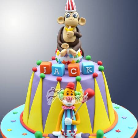 Two tier Circus cake- NC65