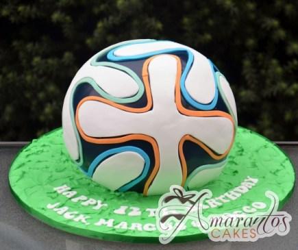 3D Soccerball Cake- Amarantos Designer Cakes Melbourne