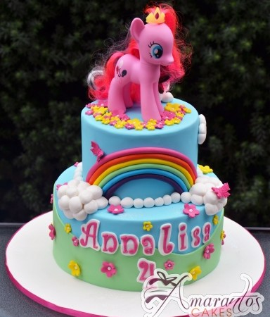 Two Tier My Little Pony- Amarantos Designer Cakes Melbourne