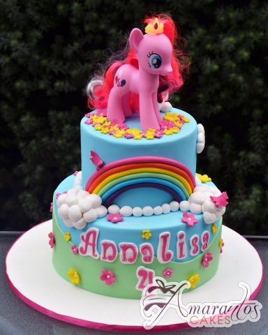 Two tier My Little Pony Cake – NC672 – Amarantos Cakes Melbourne