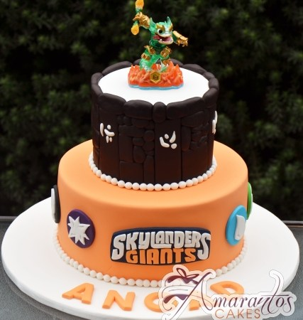 Two tier Skylander Cake – NC681
