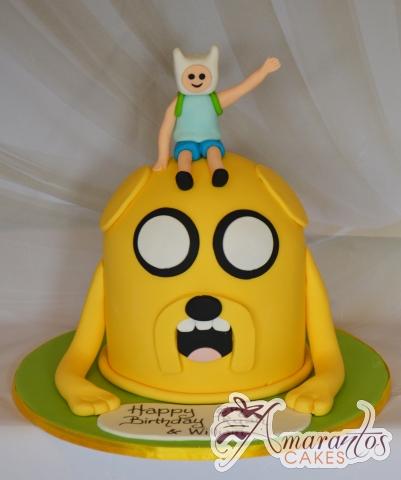 Jake the dog cake with Finn - NC683 - Celebration Amarantos Cakes