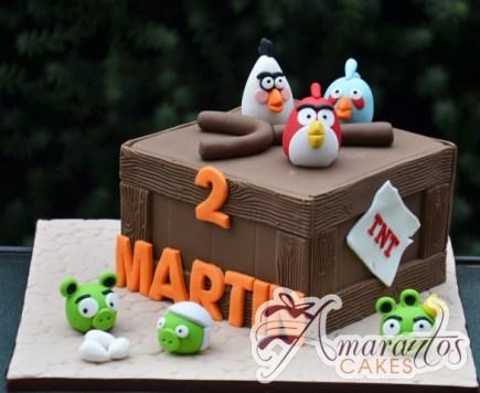 Angry Birds cake – NC687 – Speciality Amarantos Cakes Melbourne