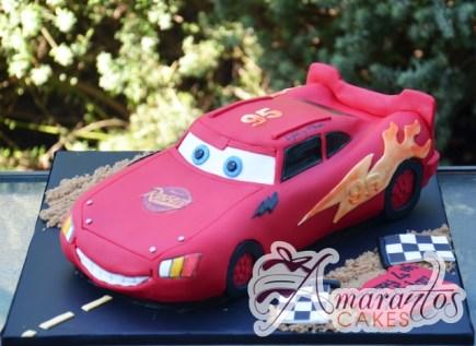 3D Lightning McQueen Cake - NC697 - Speciality Amarantos Cakes