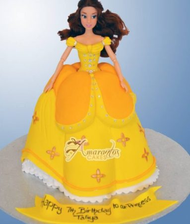 Princess Belle Cake Barbie - Amarantos Cakes Melbourne
