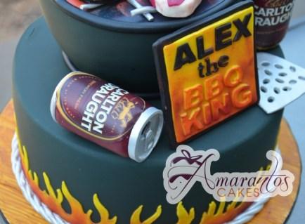 Two Tier Beer BBQ Cake - Amarantos Cakes Melbourne Designer Cakes