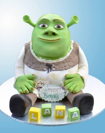 3d Shrek Cake Amarantos Cakes Melbourne