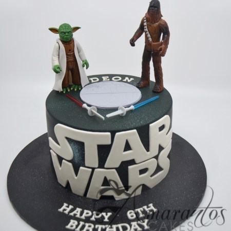 Star Wars cake with logo – NC97