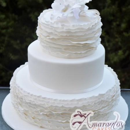 Three Tier Frill Cake- WC158