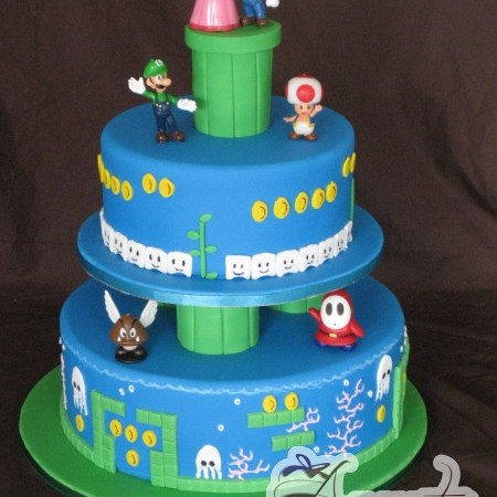 Two tier Super Mario Wedding Cake- WC190