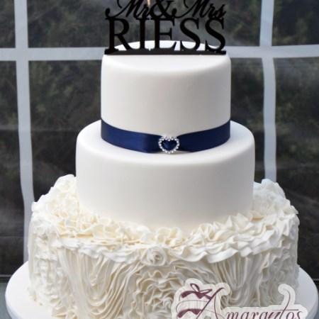Three tier Wedding Cake – WC225