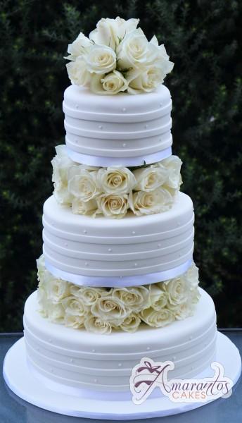 Three Tier Cake – WC25 – Amarantos Wedding Cakes Melbourne