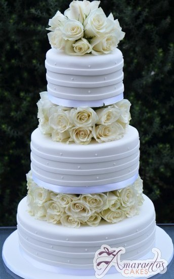 Three Tier Cake – WC25 – Amarantos Wedding Cakes Melbourne