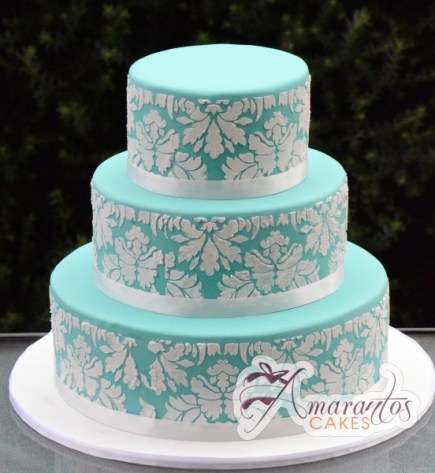 Three Tier Cake - WC27 - Amarantos Wedding Cakes Melbourne