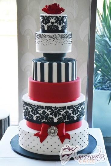 Six Tier Cake – WC32 – Amarantos Wedding Cakes Melbourne