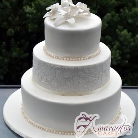 Three Tier Cake - Amarantos Wedding Cakes Melbourne