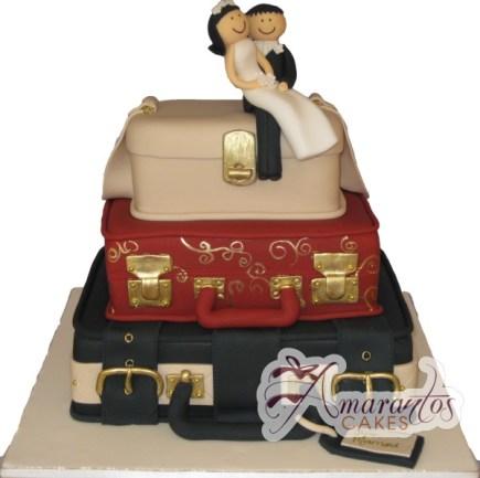 Three Tier Cake – WC75 – Amarantos Novelty Wedding Cakes Melbourne