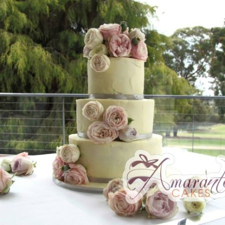 Three Tier White choc Cake- WC86