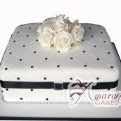 Square with Flowers - Amarantos Designer Cakes Melbourne