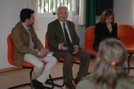 Primera presentación de 'Amarás América' en Proyecto Hombre Murcia, con Tomás Zamora y Asunción Santos