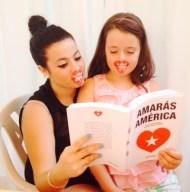 Macarena y Sara Mateos, con los labios pintados como la portada de 'Amarás América'