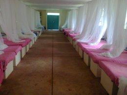 Furnished new girls dormitory