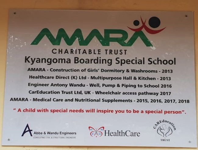 Kyangoma overall plaque