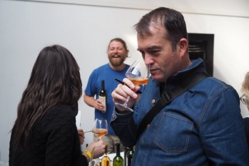 Jamie Goode at The Real Wine Fair, from Jamie's blog