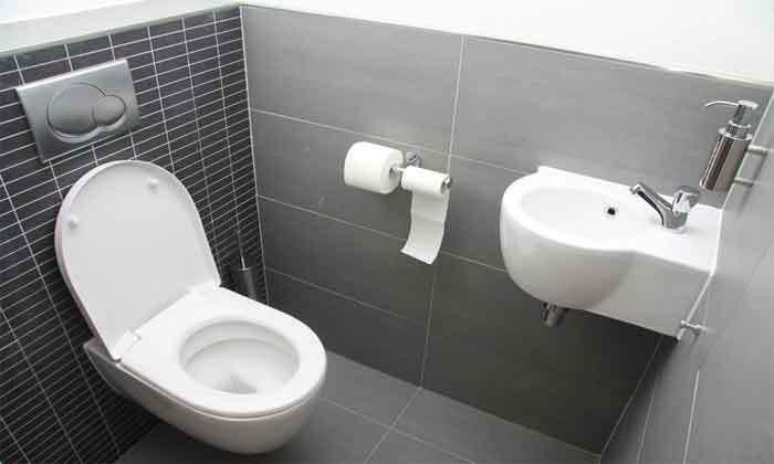 toilet gurgles when washing machine