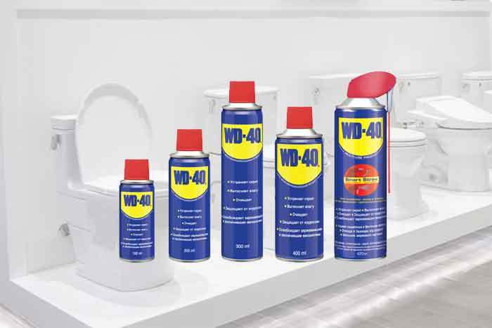 does wd 40 clean