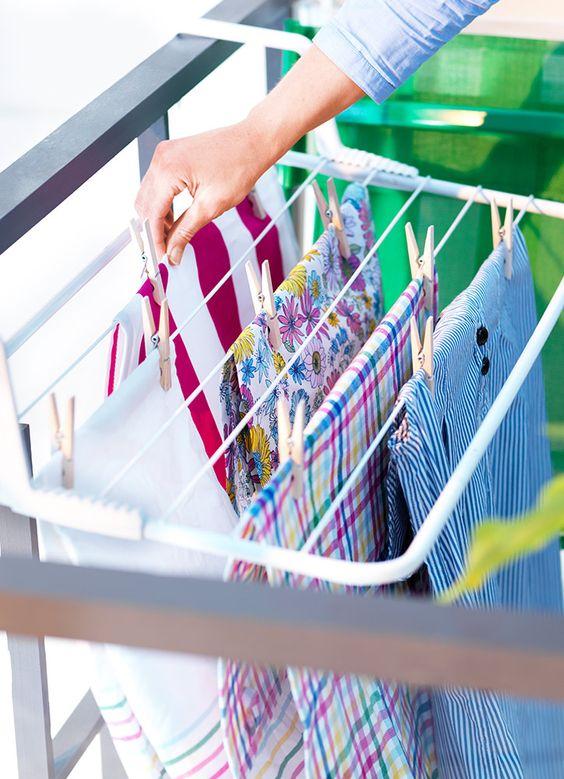 ideas para decorar balcones pequeños con tendederos