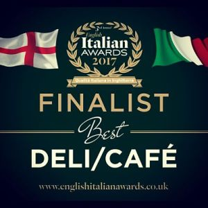 Amaretto Deli is a finalist in the English Italian Awards 2017 Best Deli/Cafe & Best Team