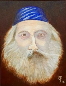"Bill Park - framed portrait - original oil painting - ""Rabbi"""