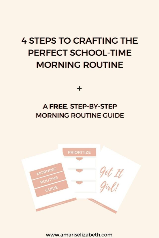 4 Steps To Crafting the Perfect Morning Routine 1
