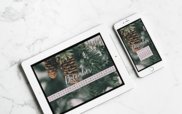 Freebie: December Desktop + Mobile Wallpaper 2