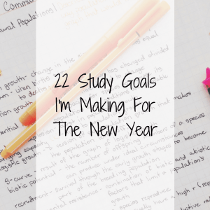 22 Study Goals I'm Making For The New Year 1