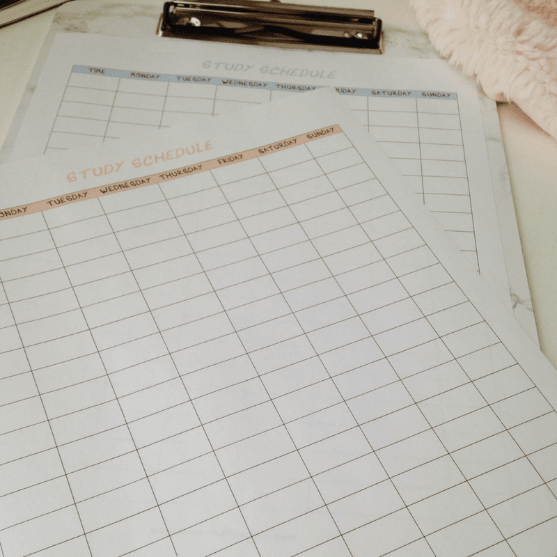 Create a Study Schedule That Actually Works